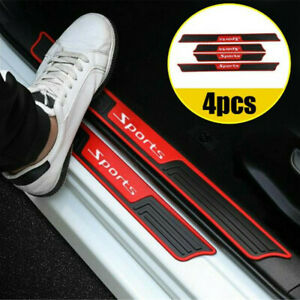 4PCS Car Door Sill Scuff Plate Cover Panel Step Protector Strip Accessories
