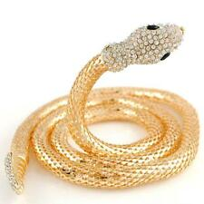 SLINKY GOLD SNAKE COILED NECKLACE SET WITH RHINESTONES - FREE UK P&P......CG2183