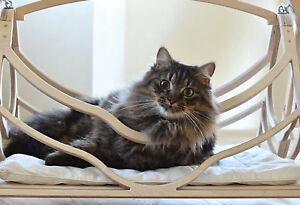 Wood Bed for Cats Pets Wood Basket Cat Furniture Cat Hammock Cave Cat Shelter