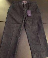 NYDJ NOT YOUR DAUGHTER'S JEANS Dark Wash Crop Capri Women's Jeans Size 6 P NEW