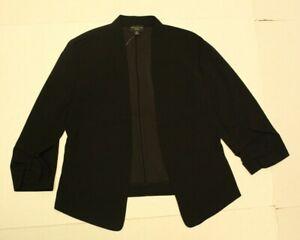 Ann Taylor Factory Women's Petite Cinched Sleeve Blazer HD3 Black Size XS NWT