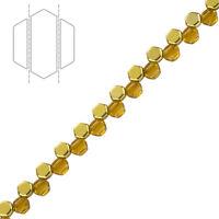 3.8x1mm O Bead® Czech Glass Donut//Ring Beads Jet Sliperit 8.1g L78//1