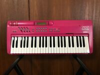 Korg 707 PERFORMING SYNTHESIZER PINK color New internal battery! w/ power supply