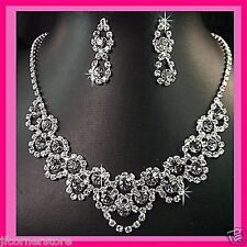 BRIDAL/WEDDING  Crystal/Diamonte Necklace Set **1** AVAILABLE IN 4 COLOURS