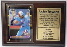 Montreal Expos Andre Dawson Baseball Card Plaque