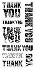 Inkadinkado Transparente Sellos Grecas gracias 60-30337 palabras de Gracias