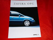 OPEL Zafira A OPC Prospekt von 2001