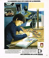 PUBLICITE ADVERTISING 054  1978  MAZDA   lumière ampoules  OPALIA