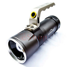 Cree LED SMD Torch Zoom Search light 400 Meter 6800 Lumen XML-T6 2x Battery