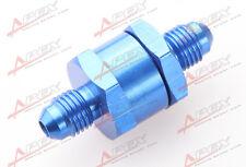 -3AN AN3 AN -3 Fuel Non Return One Way Check Valve Petrol Diesel Aluminium Blue