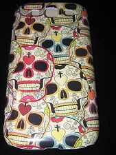 Sugar Skull Hard Cover Case for Samsung S3  Dia de los Muertos Multiple Skulls