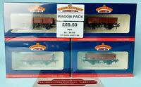 BACHMANN 'OO' 38-326 (X4) 13T HIGH SIDED OPEN WAGON BR BRAUXITE (LATE) *NEW*