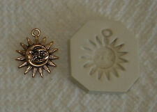 Sun & Moon Face  Polymer Clay Push Mold Pendant Charn 0 Ship after 1st item