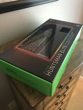 Razer Huntsman Elite Opto-Mechanical Switch Keyboard w Wrist Rest Black Open Box