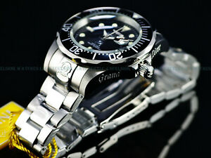 Invicta Mens 300M Grand Diver Automatic Classic Black Dial Stainless Steel Watch