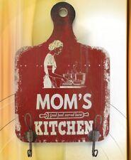 Wardrobe Wall Hook + Shield Wood Mom's Kitchen Wardrobe Hook Vintage Aesthetics