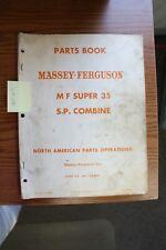 Massey Ferguson Super 35 Sp Combine Parts Manual