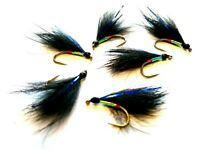 Blue Flash Black Cormorant Still Water Lake Lures Trout Fly Fishing Flies