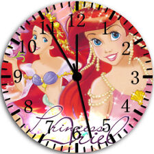 Little Mermaid Ariel Frameless Borderless Wall Clock Nice For Gifts or Decor W79