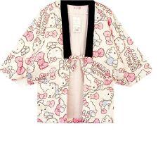 Hello Kitty Japanese Traditional Winter Coat Jacket HANTEN Kimono loungewear New