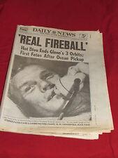 NY Daily News Oct 28 1998 Special 16 page Insert John Glenn Orbit 1962 Reprint