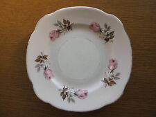 Vintage 1950s 1960s Bone China Side Plate, Duchess Pottery, Floral Rose, Pink