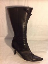 Clarks Black Mid Calf Leather Boots Size 5.5