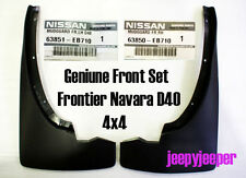 FRONT SET 4x4 4WD MUD FLAP GUARD FOR NISSAN FRONTIER NAVARA D40 2004-2014
