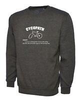 Cycopath Sweatshirt Funny Cycling Cycle lover Gift Jumper unisex Joke Humor Top