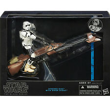 Star Wars Black Series Deluxe Blue Label 6-Inch Speeder Bike Biker Scout Figure