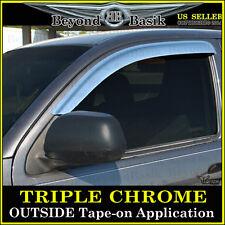 2005-2015 Toyota Tacoma Extended Cab 2PC Chrome Door Vent Visors Rain Guards