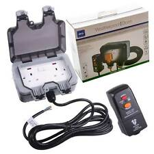 Masterplug BG Outdoor Mains Socket Power Kit & RCD Protected Plug Weatherproof