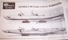 Minicraft Nichimo WW2 Japanese I-19 SUBMARINE Motorized Model Kit Instructions