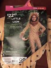 Little Lion Girls Halloween Costume 4-6 New