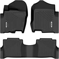 OEDRO Floor Mats Liners TPE for 2017-2021 Nissan Titan Crew Cab All-Weather F&R