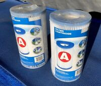 INTEX #59900E Type A Pool Filter Cartridges! Lot Of 2 (New-Factory Sealed!)