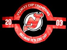 NEW JERSEY DEVILS Stanley Cup Champions NEW T Shirt Size L Molson Canadian