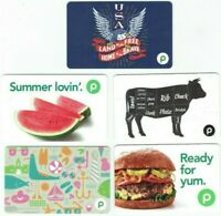 PUBLIX Gift Card LOT of 5 - Watermelon, Cow, Eagle USA, At the Shore - No Value