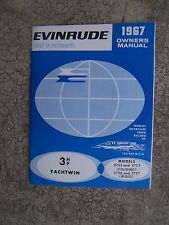 1967 Evinrude Outboard Motor 3 HP Yachtwin 3732 3733 3736 3737 Owner Manual  S