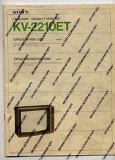VC 14127 ISTRUZIONI USO TELEVISORE SONY TRINITRON KV 2210ET RM 613