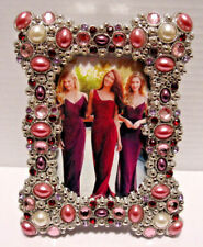 """Purple Pink And Silver Decorative Jewels 2"""" X 3"""" Frame"""
