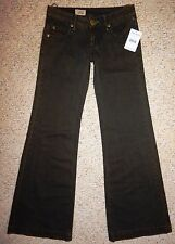 NWT Free People Washed Black Jeans Flared Lightweight Women's Size 25 NEW