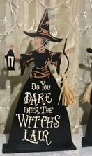 Halloween Witch tabletop decor Sign