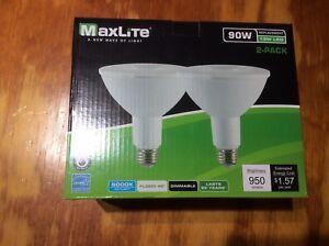 2 pack LED Outdoor Flood Light Bulb, weatherproof  90 watt daylight 5000k!!!!