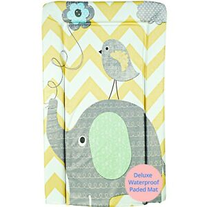 Callowesse Baby Changing Portable Mat-Soft Padded Waterproof (Elephant/Chevron)