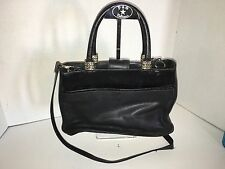 Fossil Black Medium Genuine Leather Tote Style Purse W/Cross-Body Shoulder Strap