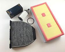 Filtro aceite + filtro de aire + filtro de carbón activado w204 c204 s204 c300 252 PS c350 306 PS