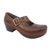 Dansko Mary Jane Clogs Shoes Womens EU 37 US 6.5 - 7 Tina Brown Leather Comfort