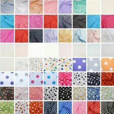 Polka Dots Spots Spotty Polycotton Fabric 2mm, 3mm, 4mm, 5mm, 10mm, 26mm