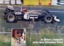 Jo Siffert+Formel 1 HEUER Schweiz Hobby Bericht Monza,Brands Hatch Original 1969